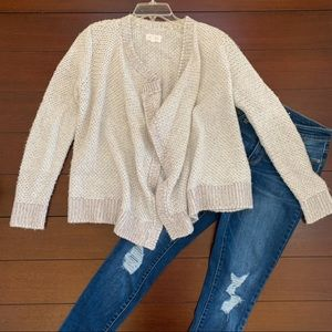 Lou & Grey Open Front Cardigan Sweater